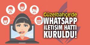 Güzelbahçe'de WhatsApp iletişim hattı kuruldu!