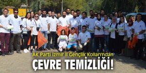 AK Parti İzmir İl Gençlik Kolları'ndan çevre temizliği!
