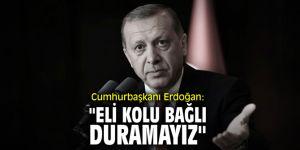 """Cumhurbaşkanı Erdoğan: """"Eli kolu bağlı duramayız"""""""