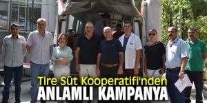 Tire Süt Kooperatifi'nden anlamlı kampanya