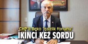 """CHP'li Beko, """"Hazinenin açığını işçinin alın terinin ürünü olan fon kapatacak!"""""""