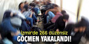 İzmir'de 266 düzensiz göçmen yakalandı!