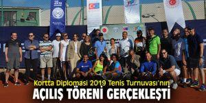 """""""Kortta Diplomasi 2019 Tenis Turnuvası""""nın açılışı yapıldı!"""