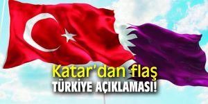 Katar'dan flaş Türkiye açıklaması!