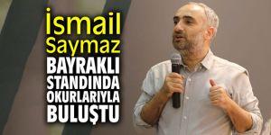 Gazeteci Saymaz Bayraklı standında okurlarıyla buluştu