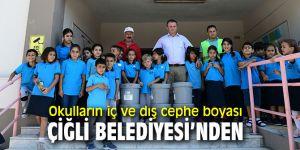 Çiğli'de okullara iç ve dış cephe boyası desteği!