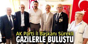 AK Parti İl Başkanı Sürekli gazilerle buluştu