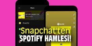 Spotfiy Snapchat paylaşımı özelliğini kullanıcılara sundu.