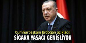Cumhurbaşkanı Recep Tayyip Erdoğan açıkladı! Sigara yasağı genişliyor