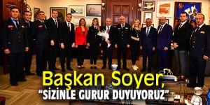 Başkan Soyer'den itfaiye çalışanlarına teşekkür!