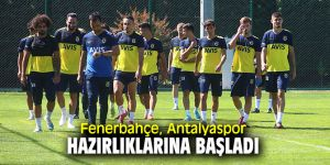 Fenerbahçe, Antalyaspor maçına hazırlanıyor!