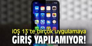 iOS 13'te büyük hata!