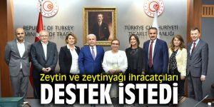 Zeytin ve zeytinyağı ihracatçıları destek istedi