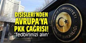 Dışişleri Bakanlığı'ndan Avrupa'ya terör örgütü çağrısı!