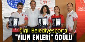 """Çiğli Belediyespor'a """"Yılın Enleri"""" ödülü"""