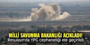 Milli Savunma Bakanlığı açıkladı! Resulayn'da YPG cephaneliği ele geçirildi