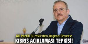 AK Partili Sürekli'den Başkan Soyer'in açıklamalarına tepki!