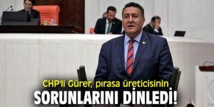 CHP'li Gürer, pırasa üreticisinin sorunlarını dinledi!
