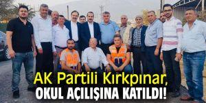 AK Partili Kırkpınar, Cumhuriyet İlkokulu'nun açılışına katıldı!