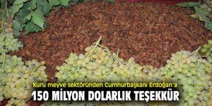 Cumhurbaşkanı Erdoğan'a kuru meyve sektöründen teşekkür!