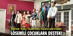 Sahne Tozu Tiyatrosu Oyuncularından Lösemili Çocuklara destek!