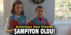 Bostanlıspor, Masa Tenisinde şampiyon