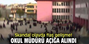 Skandal olayda flaş gelişme! Okul müdürü açığa alındı