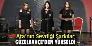 Güzelbahçe'de Atatürk'ün sevdiği şarkı ve türküleri seslendirildi!
