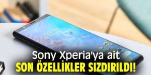 Sony Xperia'ya ait son özellikler sızdırıldı!