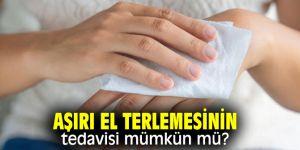 Aşırı el terlemesinin tedavisi mümkün mü?