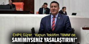 CHP'li Gürer'den Bakan Pakdemirli'ye çağrı!