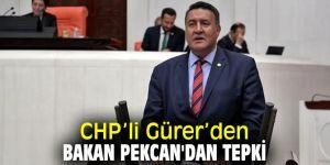 CHP'li Gürer'den Bakan Pekcan'dan tepki