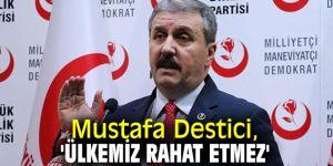 Mustafa Destici, 'Ülkemiz rahat etmez'