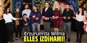 Güzellik merkezi açılışında Wilma Elles!