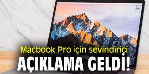 Macbook Pro için müjdeli haber