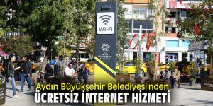 Aydın'da ücretsiz internet hizmeti başladı