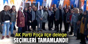 AK Parti Foça'da delege seçimleri tamam