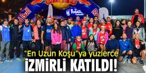 """""""En Uzun Koşu""""ya yüzlerce İzmirli katıldı!"""
