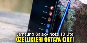 Samsung Galaxy Note 10 Lite özellikleri!