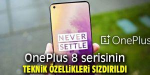OnePlus 8 serisinin teknik özellikleri sızdırıldı