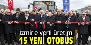 İzmir'e yerli üretim 15 yeni otobüs dahil oldu!