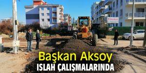 Başkan Aksoy ıslah çalışmalarında