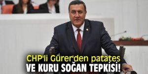 CHP'li Gürer'den patates ve kuru soğan tepkisi!