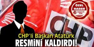 CHP'li Başkan Atatürk Resmini Kaldırdı!