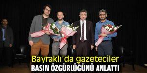 Bayraklı'da basın özgürlüğünü anlattılar!