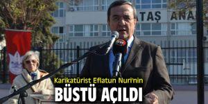 Karikatürist Eflatun Nuri'nin Büstü Açıldı