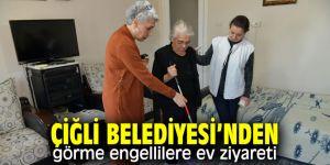 Çiğli'de görme engelli vatandaşlara ziyaret!