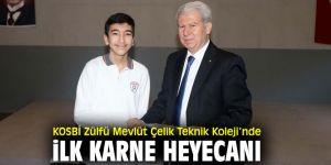 KOSBİ Zülfü-Mevlüt Çelik Mesleki ve Teknik Anadolu Lisesi'nde karne heyecanı yaşandı!