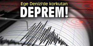 Son dakika! Ege Denizi'de korkutan deprem!
