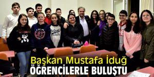 Başkan İduğ, BELGEM'de öğrencilerle bir araya geldi!